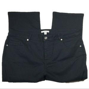 Isaac Mizrahi Black Capri Jeans Cropped Pants 16P